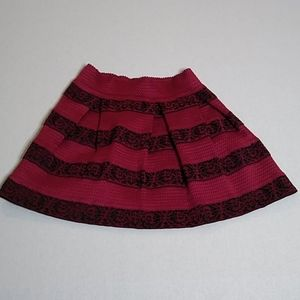Miami pink and black striped skirt w/ side zipper